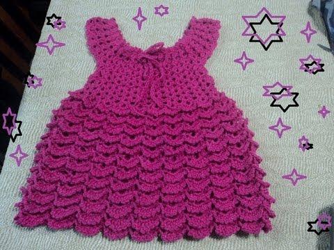 Vestidos de bebé tejidos en crochet paso a paso - Imagui