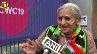 I'm Too Proud of My Country: Team India's 87-Year-Old Fan at India vs Bangladesh World Cup The Quint