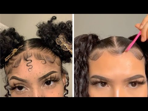 New Natural Hairstyles & Slayed Edges Compilation