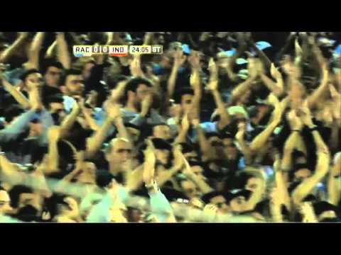 Ovación para Milito. Racing 0 - Independiente 0. Fecha 12. Primera División 2016.