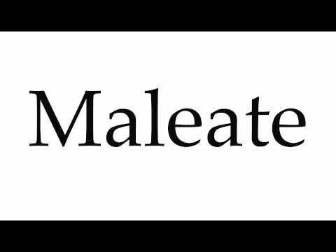 How to Pronounce Maleate