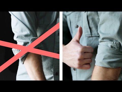 come arrotolare le maniche di una camicia: ecco il modo giusto di farlo!