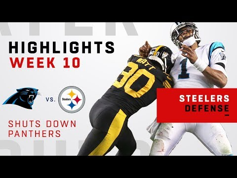 Pittsburgh's Defense Rack Up 5 Sacks vs. Panthers