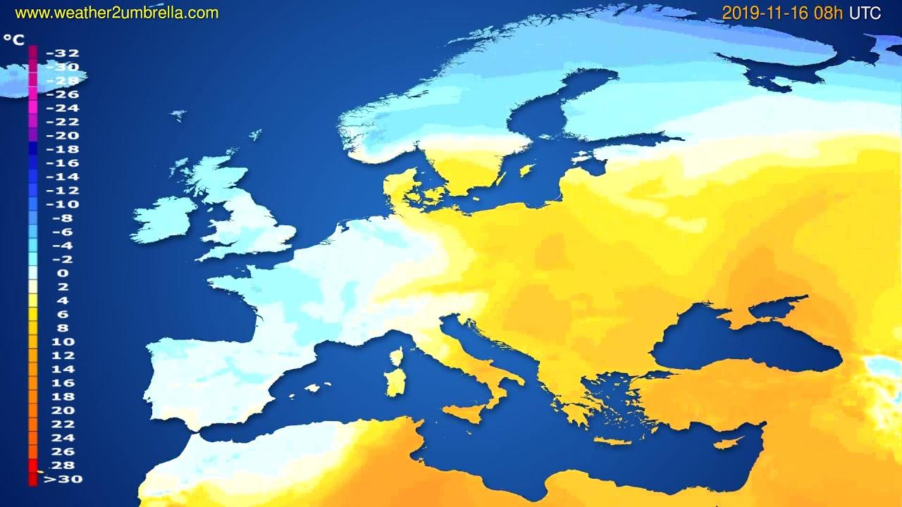 Temperature forecast Europe // modelrun: 00h UTC 2019-11-15
