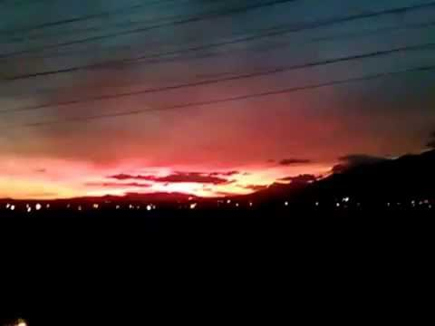 California Sky turns BLOOD RED 2nd Sunset NIBIRU CAUGHT ON TAPE!!