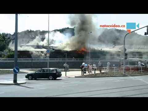 Požár u metra Bořislavka