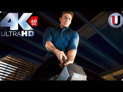 Lifting Thors Hammer - Avengers Age of Ultron 2015 Movie Clip (4K HD)