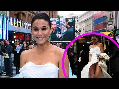 Emmanuelle Chriqui Suffers Wardrobe Malfunction At London Premire (видео)
