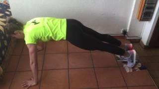 Flexión de cadera + fondo de brazos