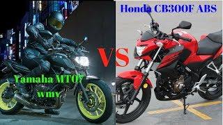 8. WOW!!! 2018 Honda CB300F ABS VS 2018 Yamaha MT 07