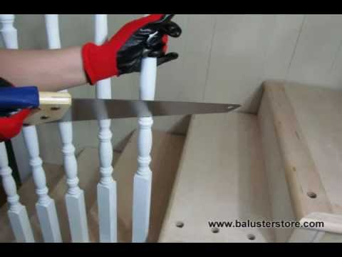 how to install iron balusters. Iron stair parts www.balusterstore.com