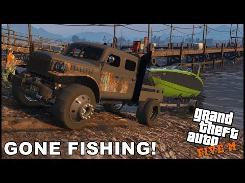 GTA 5 ROLEPLAY - GOING ON FISHING TRIP! - EP. 548 - CIV
