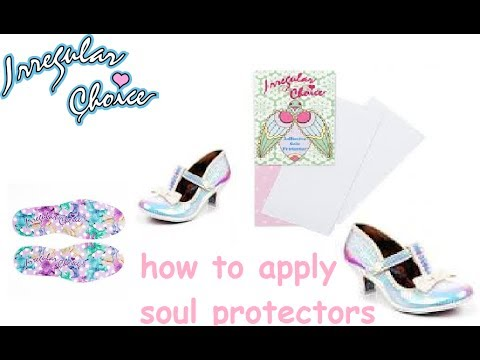 Irregular choice applying soul protectors and insoles