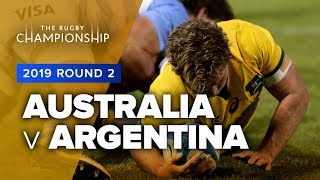 Australia v Argentina Rd.2 2019 Rugby Championship video highlights