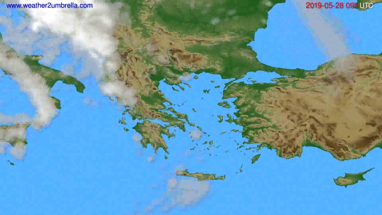 Cloud forecast Greece // modelrun: 12h UTC 2019-05-26