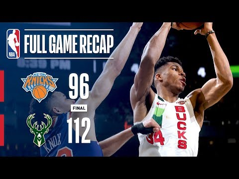 Video: Full Game Recap: Knicks VS Bucks | Giannis Leads Bucks Past Knicks