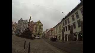 www.tomsnextstep.com runs through Plzen, Czech Republic during his 26000 km run around the world.