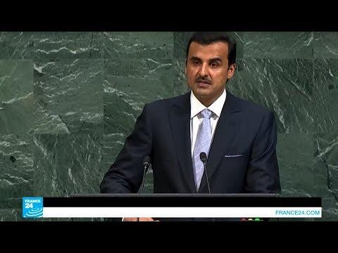 العرب اليوم - شاهد: أمير قطر يندد بالحصار المفروض على بلاده