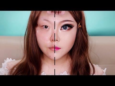 這位韓國正妹示範「亞洲四大邪術」有多誇張,當她把妝容完全卸下時…所有男人都不相信女神的存在了!