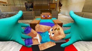 REALISTIC MINECRAFT - STEVE GIVES BIRTH
