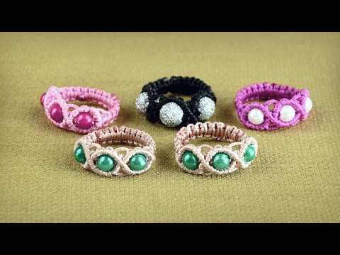 anello in macramè - tutorial