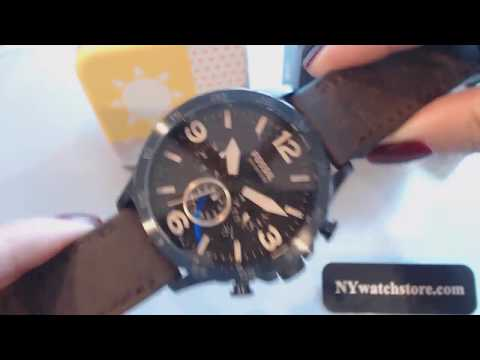 fossil chronograph »nate jr1487