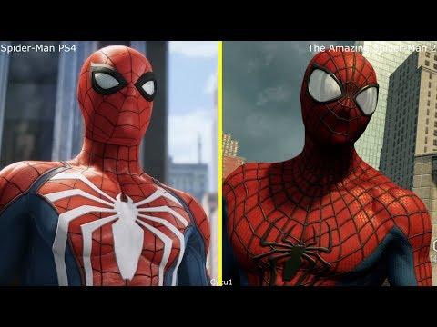 Spider-Man PS4 vs The Amazing Spider-Man 2 PS4 Pro Graphics Comparison