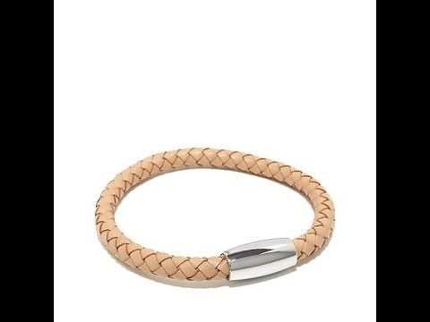 Men's Stainless Steel Braided Leather Cord Bracelet