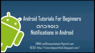 Android Notification tutorial for beginners