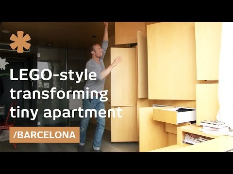 resource furniture - When Christian Schallert isn't cooking, dressing, sleeping or eating, his 24 square meter (258 square feet) apartment looks like an empty cube. To use a piec...