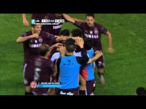 Gol de Velázquez. Lanús 1 – Gimnasia 0. Liguilla Pre-Sudamericana 2015. FPT.