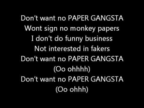 Lady Gaga - Paper Gansta, Lyrics.
