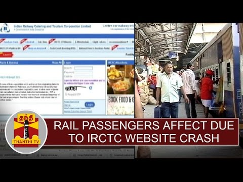 Rail-Passengers-affect-due-to-IRCTC-website-crash-Thanthi-TV