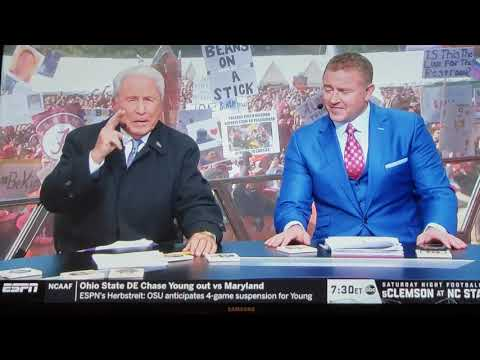 Lee Corso's pick for the LSU @ Alabama game!!!