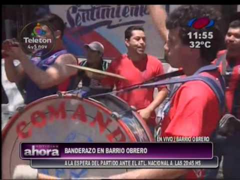 Banderazo en Barrio Obrero - La Plaza y Comando - Cerro Porteño