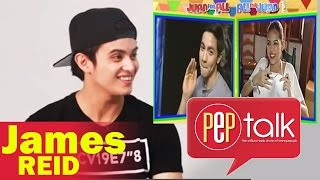 "Video PEP TALK. James Reid discovers ""Bahala Na"" is used by AlDub: ""That's cool!"" MP3, 3GP, MP4, WEBM, AVI, FLV Januari 2019"