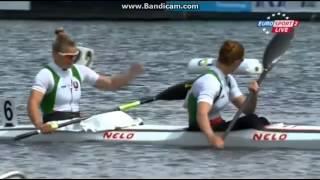 2014 Brandenburg K2 200M  Women Canoe Sprint European Championships