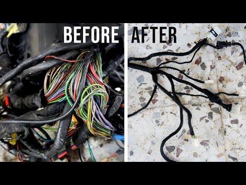 BMW E30 Wiring Loom Restoration | BMW E30 325i Sport Restoration E9 S1