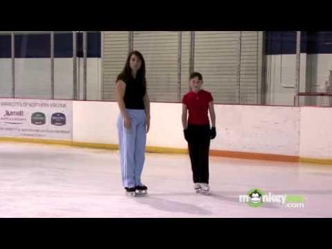 Ice Hockey – Skate Forward and Backward Cuts Around the Cones