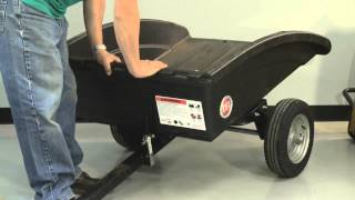 Tech Support lowering DR Leaf and Lawn Vac Cart