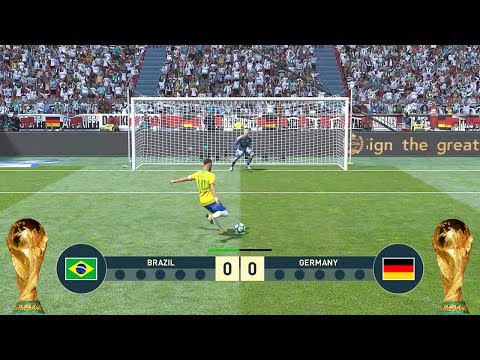 PES 2019 World Cup Final Brazil V Germany Full Match HD