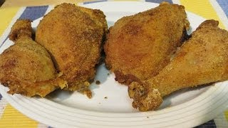 This video recipe shoes you how to make The Best Extra Crispy Oven Fried Chicken. Healthy, gluten free and delicious recipe.