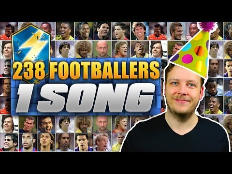 238 FOOTBALL PLAYERS - 1 SONG!!