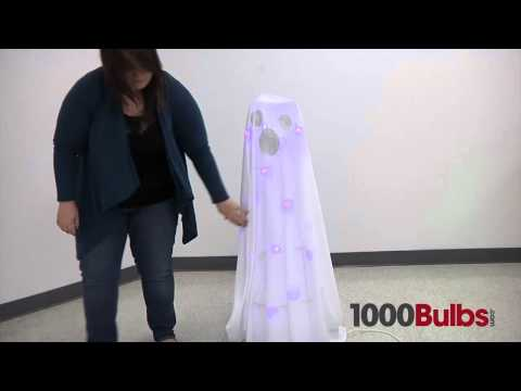 DIY Halloween Lawn Ghost – Made with Christmas Lights