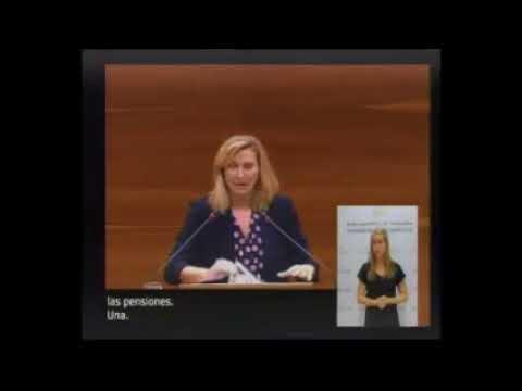 Ana Beltrán reprocha a los socialistas su demagogia respecto a las pensiones