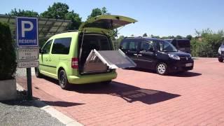 Elektrické sklápění rampy - RA 002 + el. dveře ve voze VW Caddy