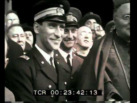Umberto Nobile in partenza da Milano per il polo nord