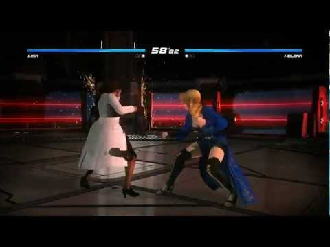 Dead or Alive 5 Gameplay (Helena vs. Lisa)