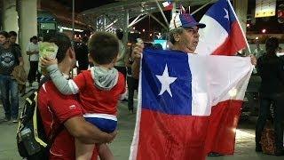 VÍDEO: Seleção do Chile chega a Belo Horizonte para a Copa