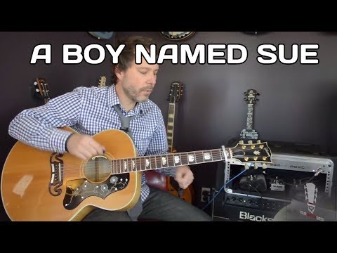 How to play A Boy Named Sue by Johnny Cash – Acoustic Guitar Lesson